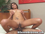 Bisexual Couple Banging in Bed